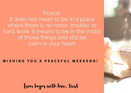 Wishing you a peaceful weekend!